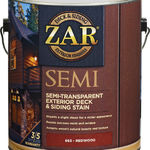 фото Пропитка ZAR SEMI-TRANSPARANT DECK & SIDING EXTERIOR STAIN 3,78л.